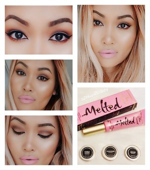 Using Makeup Geek Shadows and Too Faced Melted liquid lipstick in Marshmallow
