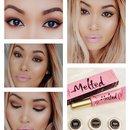 Pink Lips Burnt Brown Eyes