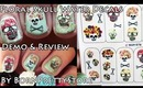 Floral Skull Nail Art Using Water Decals (How-To) | OliviaMakeupChannel