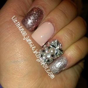 this weeks bling nails.