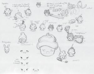 cupcakes concept/sketch!