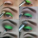 How to green neon smokey eye