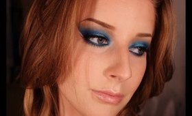 Urban Decay Electric Palette Edgy Blue Makeup Tutorial