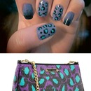 Purple, Blue, Black, Leopard Betsey Johnson Nailspiration