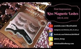 Kiss Magnetic Lashes | First Impressions & Try-on | Fabulous Life of Mrs. P