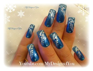 Winter Nail Art | New Year`s Nails | Blue Winter Nails https://www.youtube.com/watch?v=CCLbCc9mgF0