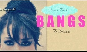 ★HAIR BUN TRICK! TRANSFORM YOUR STYLE WITH FAKE BANGS  UPDOS & HAIRSTYLES FOR MEDIUM LONG HAIR TUTORIAL