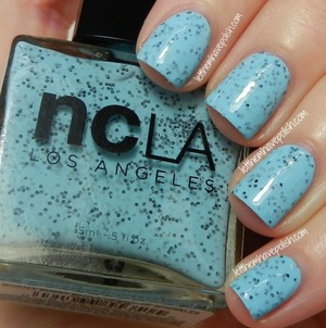 Sky Blue creme with tons of black Sprinkles