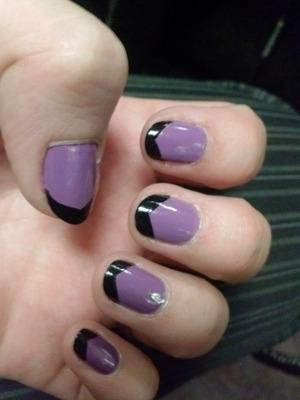 jewel, black on purple