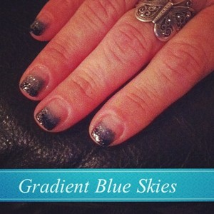 Gradient Blue Skies; thanks to one of the tutorials on here :)