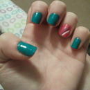 Turquoise-Green and Pink :)