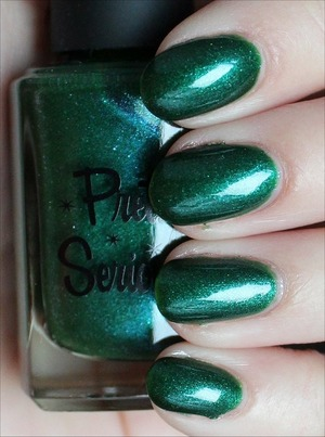 From the Christmas Without Snow Collection. See more swatches & my review here: http://www.swatchandlearn.com/pretty-serious-blue-gums-on-boxing-day-swatches-review