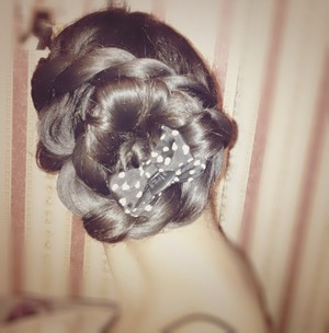 Floral inspired hairstyle