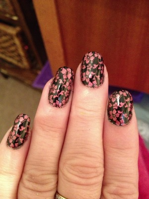 Shellac and plate printed with barry m