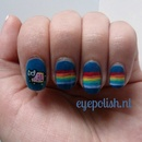 Nyan Cat Nail Art