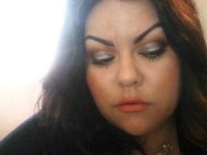 Disco Silver & Coral Lips....