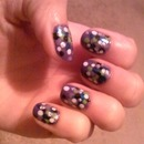 Multicolored Dotted Nails