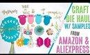 Aliexpress & Amazon Craft Haul 2019 ft Metal Cutting Dies, Aliexpress & Amazon Die Haul with Samples