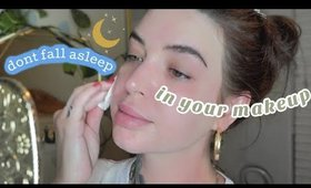 Lazy girl night skin routine🧖🏻♀️ How to remove your face when you're lazy
