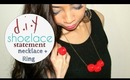 How to : Shoelace Statement necklace+ring - NancyLC