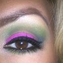 Magenta and green.