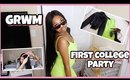 GRWM First College Party 2019 | Outfit, Hair and Makeup
