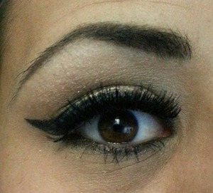 Black winged eye liner with Urban Decay.