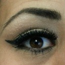 Cat eye- Black winged eye liner