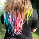 Rainbow Hair Tips