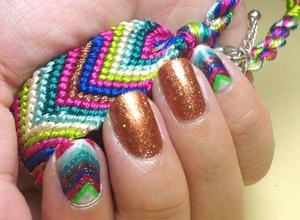 Chevron stripes inspired by my bracelet :)