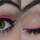 Double pink eyeliner