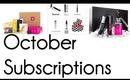 October Subscriptions: Julep Maven, Ipsy/MyGlam, Birchbox