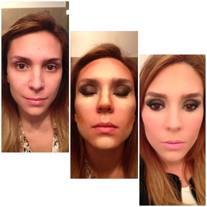 Hello! Since I love love love a bright under eye look, I started playing with highlighting and contouring. It really makes a huge difference! her is my own before and after. Hope you like!