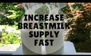 How to increase breastmilk supply  | 5 tips | fast + easy