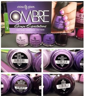 China Glaze: Sweet Hook China Glaze: Spontaneous China Glaze: Grape Pop China Glaze: Crimson