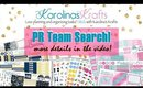 PR team search for etsy shop with planner stickers!