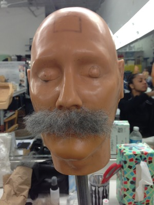 Laying Hair Mustache Application