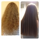 frizzy to straight