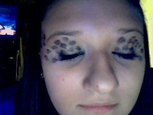 I was practicing leopard eyes so I could try it out for halloween and everyone LOVED it :) Definitely doing it again.
