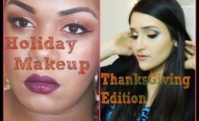ThanksGiving Makeup Collab with TahresaUniqueBeauty || Holiday Series
