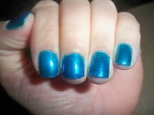 China Glaze 'Blue Iguana' Two Coats2