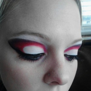 I also used a black shadow from a palette I got from Claire's a while back.