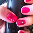 Pink with nail art