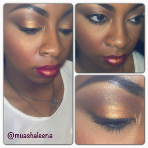MAC ahold Deposit makes me look all bronze and I love it!!   Follow me on Instagram to see more makeup pics @muashaleena