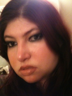 Pam anderson via pixiwoo look for beady eye concert