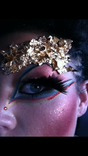 This was for a fantasy hair competition. Aubrey Hudson is the MUA and hair artist .