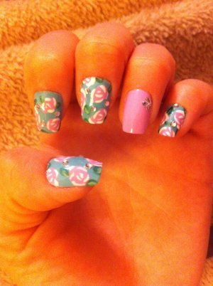 My newest floral design! A little obsessed with the floral pattern.