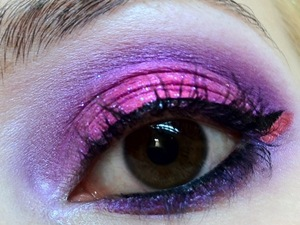 This was the look I did for my birthday! I used my favourite products and couldn't leave the house without Eye Kandy Cotton Candy, Sugarpill Dollipop, M.A.C Violet pigment and OCC Anime.