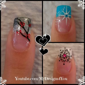 3 Winter French Tip Nail Designs | Winter Nail Art Ideas