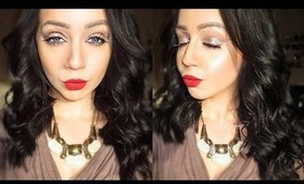My 'GO TO' Look | Glitter Lid & Red Lips